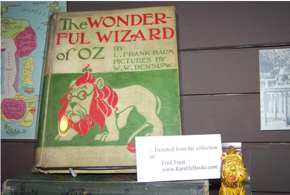 Wonderful Wizard of Oz book in  Oz museum
