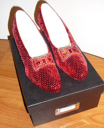 Exact replica of ruby slippers